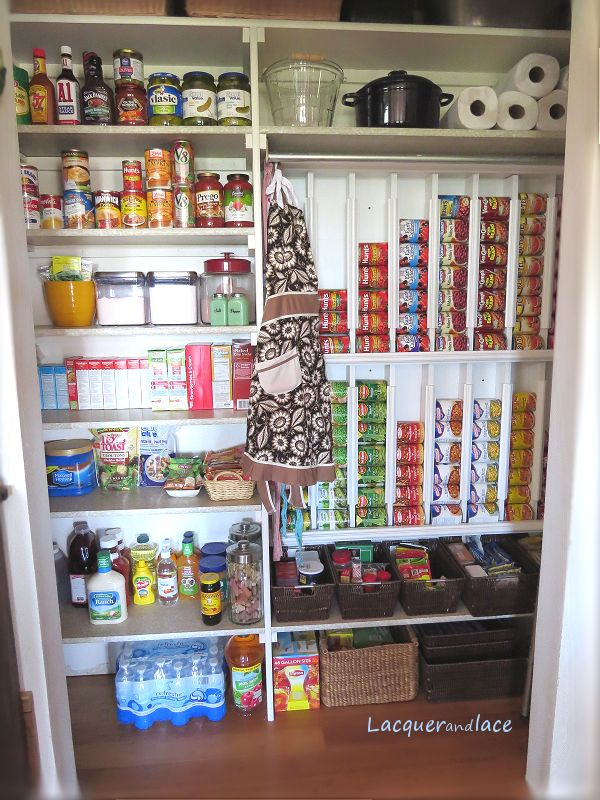 diy pantry organization rotating canned food system kmom14
