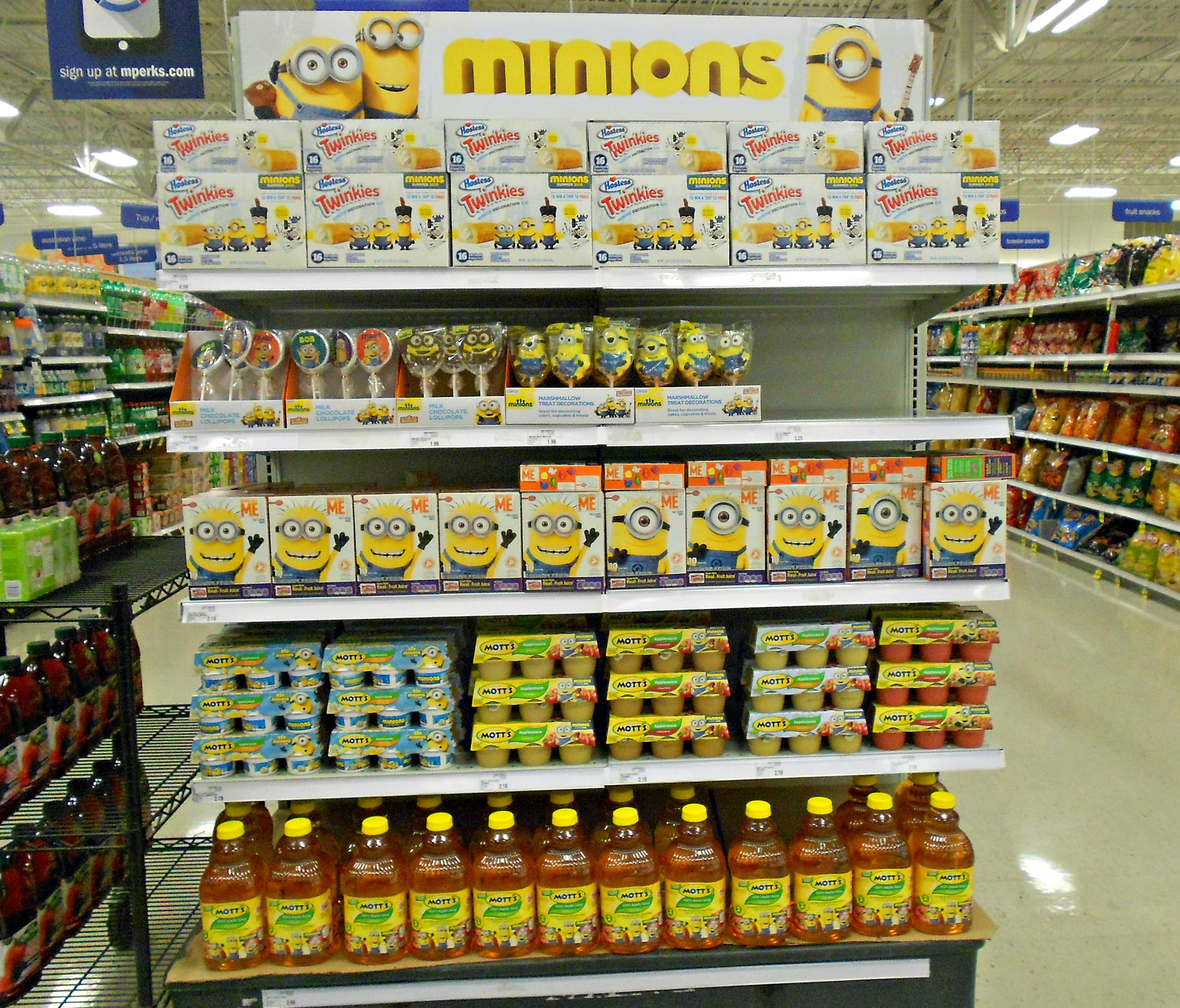 minion display at meijer s kmom14 project 365 a picture a day