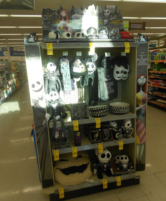 nightmare before christmas display at walgreens kmom14 project 365 take a picture a day - Walgreens Christmas Day